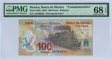Mexico 100 Pesos P128a 20.NOV.2007 PMG 68 EPQ s/n A9769603 Commemorative Polymer