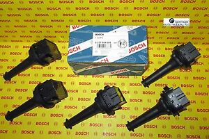 Volvo 5 Piece Ignition Coil Set - BOSCH - 0221604008, 00117 - NEW OEM
