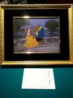 ON THE TERRACE, DISNEY BEAUTY AND THE BEAST LTD. ED. #364/500 NEW, CUSTOM FRAMED