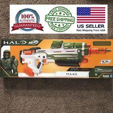 2 NERF Halo Ma40 Master Chief Motorized Dart Blaster Guns for Christmas.