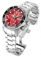 New Men's Invicta 18914 Pro Diver Swiss Automatic Valjoux 7750 Red Dial Watch