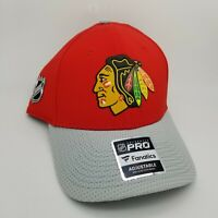 Chicago Blackhawks Pro Fanatics Hat Cap NHL Authentic Adjustable Snapback Red