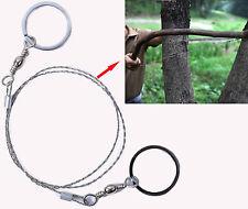 70cm Portatile acciaio inox tasca catena Sega a filo per salvataggio bushcraft