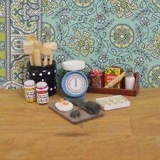 Vaisselle et cuisson set pour maisons de poupées miniatures