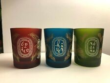 Diptyque Holiday Winter Candle Set 3 Empty Jar Blue Green Red