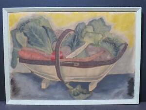 Trug Vegetables Circa 1900 Antique Painting Kitchenalia Painting Kitchen