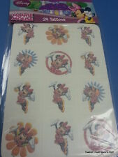 Minnie Mouse Party Supplies 24 TATTOOS FavorsTreat Gift Bag Goodies Mickey Polka