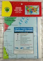 """United States Wall Map - 40"""" W x 28"""" H - Large - Poster"""