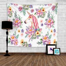 Indian Animal Unicorn Mandala Tapestry Wall Hanging Bedspread Towel Decor #3