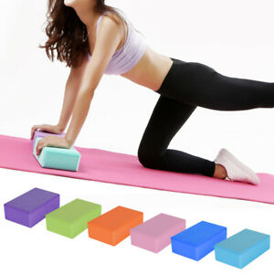 2Pcs Yoga Block Fitness EVA Foam Yoga Brick Pilates Stretching Exercise Workou