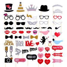 58 Pcs Props Photo Booth Funny Selfie Wedding Birthday Party Events Photography