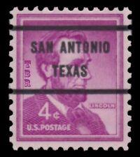 1036a Lincoln 4c SAN ANTONIO TX Bureau Precancel 71 Liberty Issue MNH - Buy Now