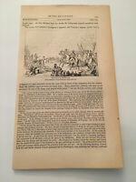 K32) Field of Monmouth George Washington  American Revolution 1860 Engraving