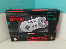 OVP+Anleitung Controller Grau Super Nintendo BOXed cib Original Pad SNES Hülle