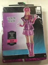 New Halloween Costume Pink Galactic Beauty Women Girl Space Adult Medium 6-8