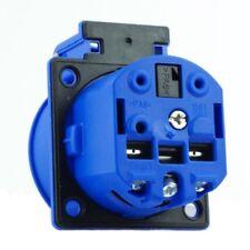 ABL Sursum Schuko 1561050 Einbausteckdose Blau mit großem Deckel