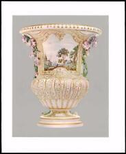 1907 ORIGINALE ANTICO CROMOLITOGRAFIA Vaso Vincennes PASTA MORBIDA Luigi XV (01)
