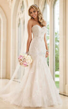 White Ivory Lace Ball Wedding Dress Bridal Gown Custom Size 4 6 8 10 12 14 16 18