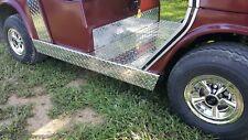 Yamaha G2 G9 Golf cart Diamond Plate Rocker Panel covers and kick panel