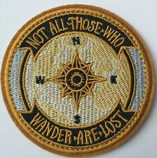 Not All Who Wander Are Lost Embroidered Patch Iron On Compass Traveller Explore