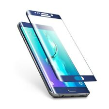 Full Curved BLUE 3D Tempered Glass screen protector for Samsung Galaxy S6 Edge
