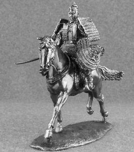 Toy Soldiers Medieval 1/32 Japanese Samurai Horse Rider Cavalry 1/32 Tin 54mm