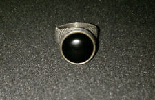 Retired James Avery Sterling Silver Tall Beaded Onyx Ring Size 5, Excellent