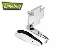 Mooneyes Iron Cross Maltese Jet Stream Wing Mirror Fender Chrome VW Beetle Buggy
