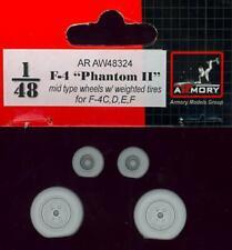 Armory Models 1/48 F-4 PHANTOM II MID TYPE WEIGHTED WHEELS SET Resin Set