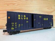 MTH TRAIN 50' BIG BLUE CSX CSXT HI-CUBE RAILROAD FREIGHT BOX CAR 151239