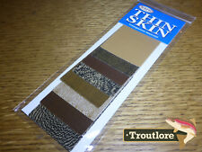 WAPSI THIN SKIN 8 PACK MIXED BROWN COLOURS THINSKIN - NEW FLY TYING MATERIALS