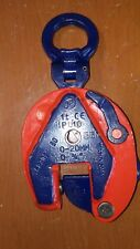 """IPU 10 1TON   Inter Product Holland /CROSBY plate lifting clamp. Grip 0-3/4""""."""