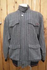Live Mechanics Designer Noir/Gris à Rayures Vintage rare jacket XL