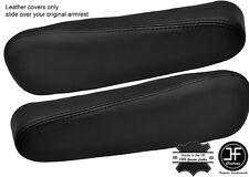 BLACK STITCH 2X SEAT ARMREST LEATHER COVERS FITS HONDA CRV CR-V 2007-2011