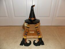 * Longaberger * Halloween Witch's Hat Combo (Basket, Fabric Legs, & Resin Base)