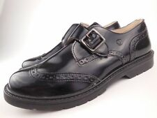 NATURINO Black Wingtip Monk Strap Loafers Dress Shoes Youth Boys Sz 36
