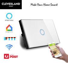 AU Standard Smart WiFi Light Switch Touch Panel 1/2/3/4 Gang Google Home Alexa