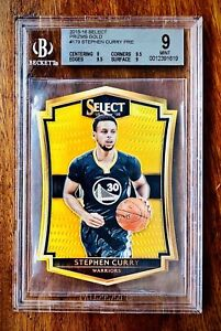 STEPHEN CURRY Panini Select Prizms GOLD BGS 9 with 9.5s 8/10 RARE