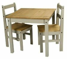 Corona 2tone107 Dining Table & 2 Chairs - Grey