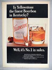 Yellowstone Kentucky Bourbon Whiskey PRINT AD - 1965