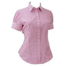 Business Short Sleeve Collared Cotton Women's Tops & Shirts