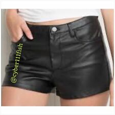 Brandy Melville Black Faux Leather Short NWOT #712