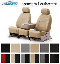 Coverking Custom Seat Covers Premium Leatherette Front Row - 12 Color Options
