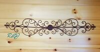 Decorative Rustic Swirl Scroll Wrought Iron Wall Grille Art Sculpture Home Decor