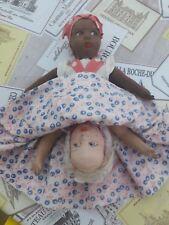 Antique Original doll sciure de bois remplie Topsy Turvy Doll Black & White American