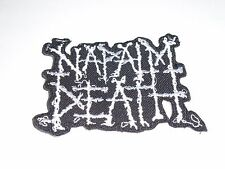 NAPALM DEATH IRON ON EMBROIDERED PATCH