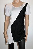 L.LINDA Brand Light Grey Black Colour Block Short Sleeve Top Size 12 NEW  #SJ20