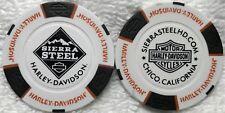 Sierra Steel Harley-Davidson® in Chico, CA Collector Poker Chip White/Black NEW