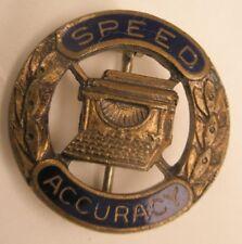 -Typing Speed Accuracy Enamel Vintage Lapel Pin/Tie Tack sorority fraternity hs
