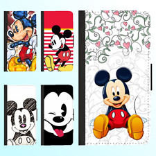 iPhone X 8 Plus 7 6s PU Leather Flip Wallet Case Disney Mickey Minnie III Cover